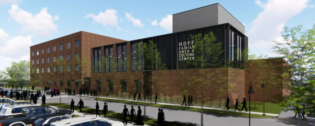 Large | Exterior rendering of PACE Hoff Family Center