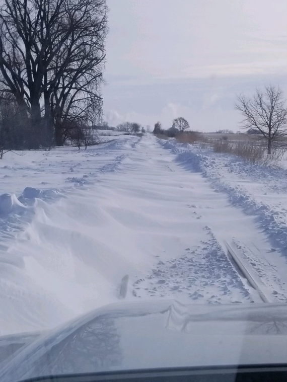 Snow drifted over tracks throughout the network including this stretch located in UP's Northern Region.
