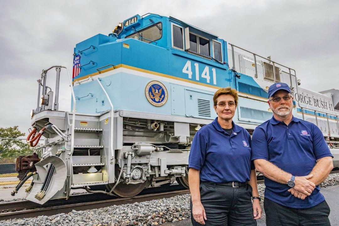 Locomotive Engineer June Nobles and Conductor Randy Kuhaneck felt the funeral train created a renewed sense of unity among Americans.