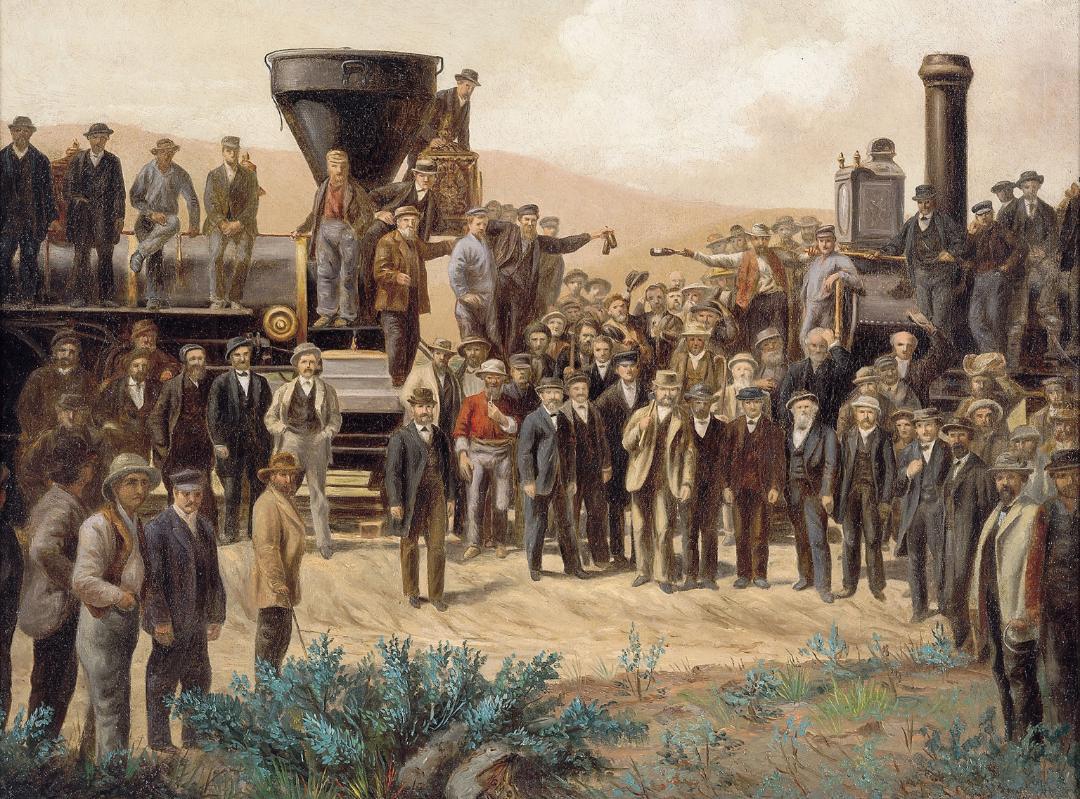 Medium Retina | Inside Track: Driving Last Spike painting for America Celebrates