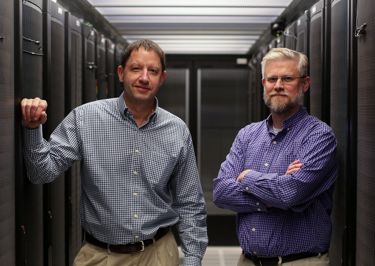 Mike Mike Pfeifer and Bill Sheesley in Union Pacific's 35,000 sq. ft. Omaha data center