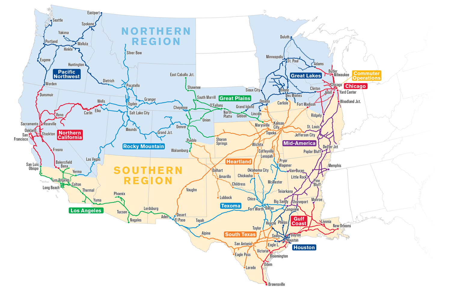 UP Maps Of The Union Pacific - Us railroad map 2015