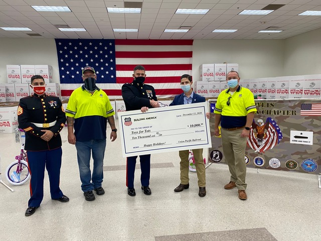 Check Presentation to Toys For Tots