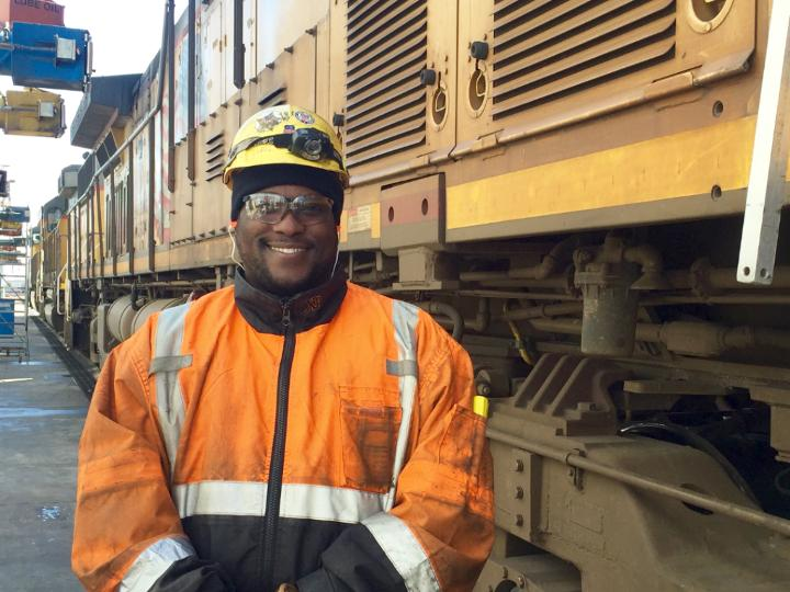Up Security Guard Trades Badge For Railroad Safety Gear