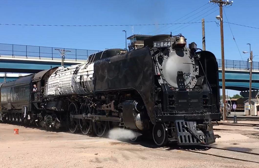 Locomotive No. 844 prepared for Cheyenne Frontier Days
