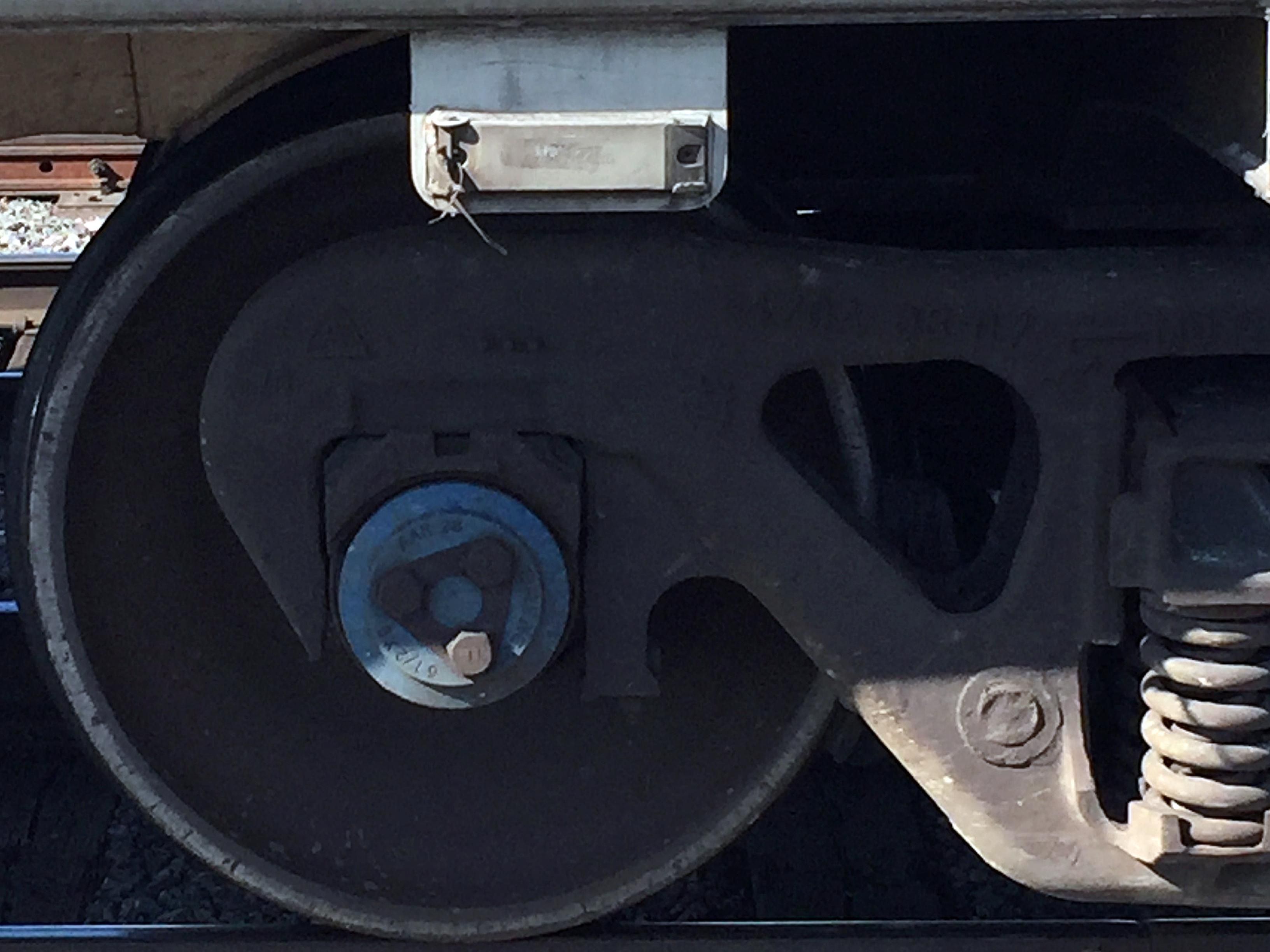 An Automatic Equipment Identification (AEI) tag.
