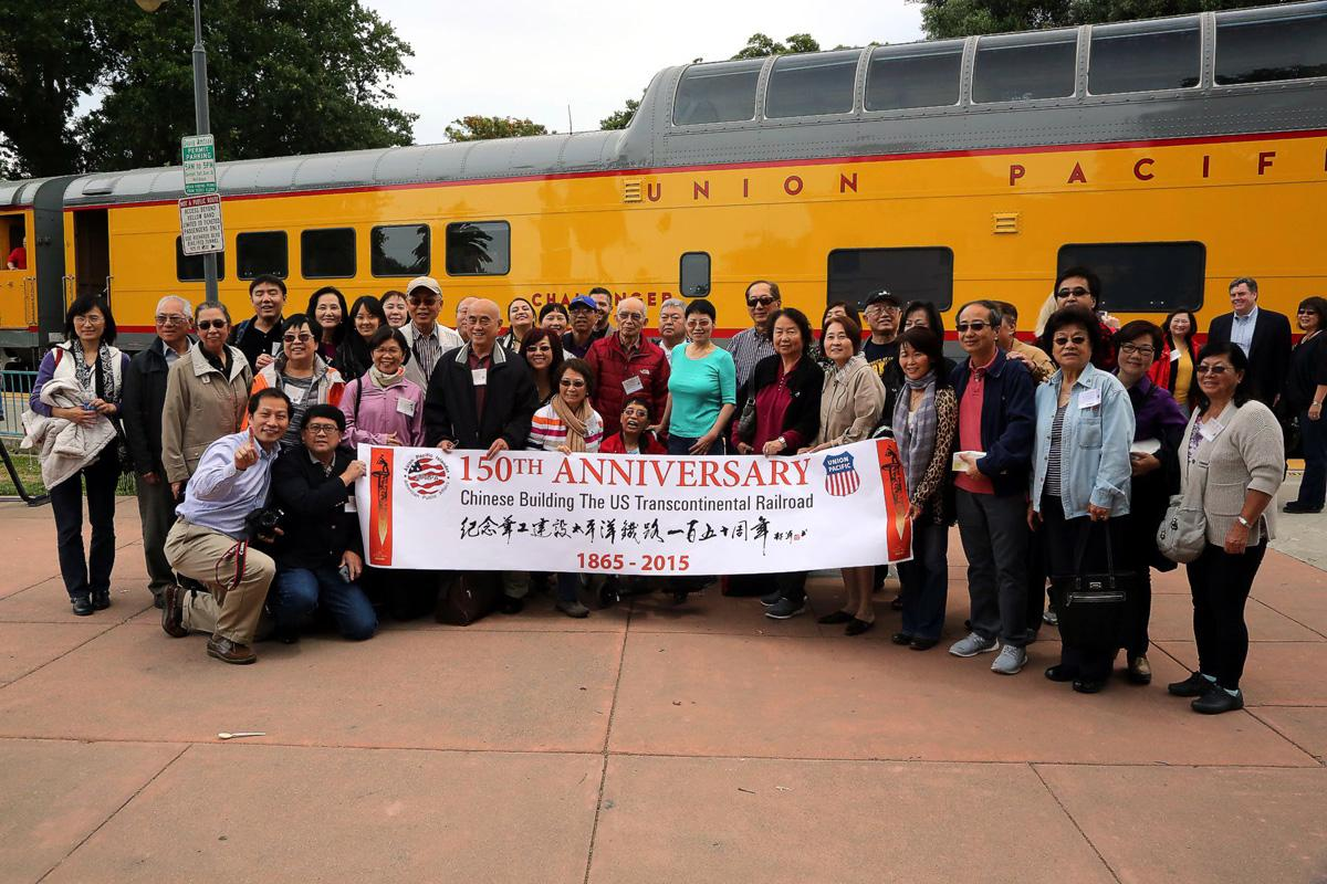 Families celebrating Chinese contributions to the railroad