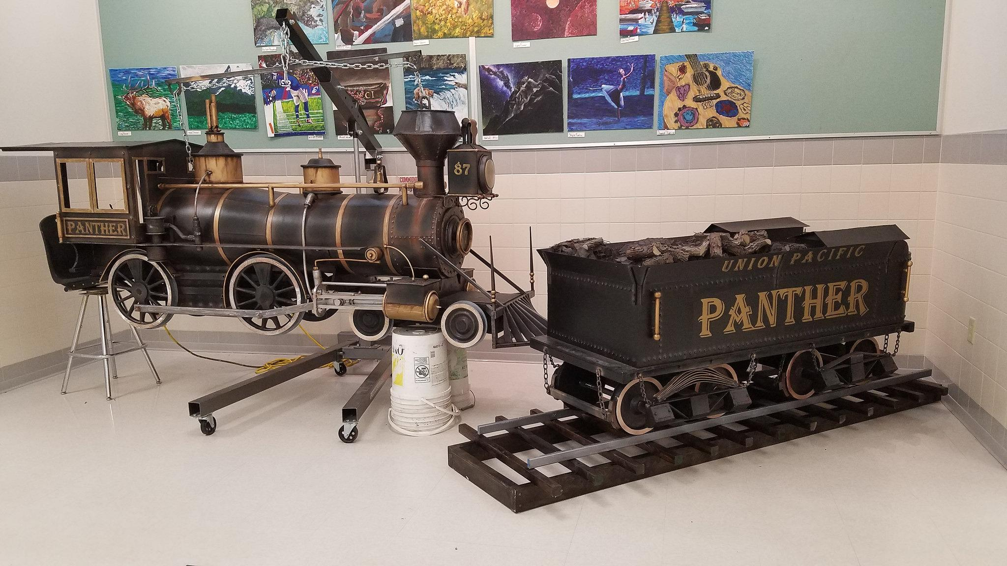 Original | Model train/tender for Wyoming school project