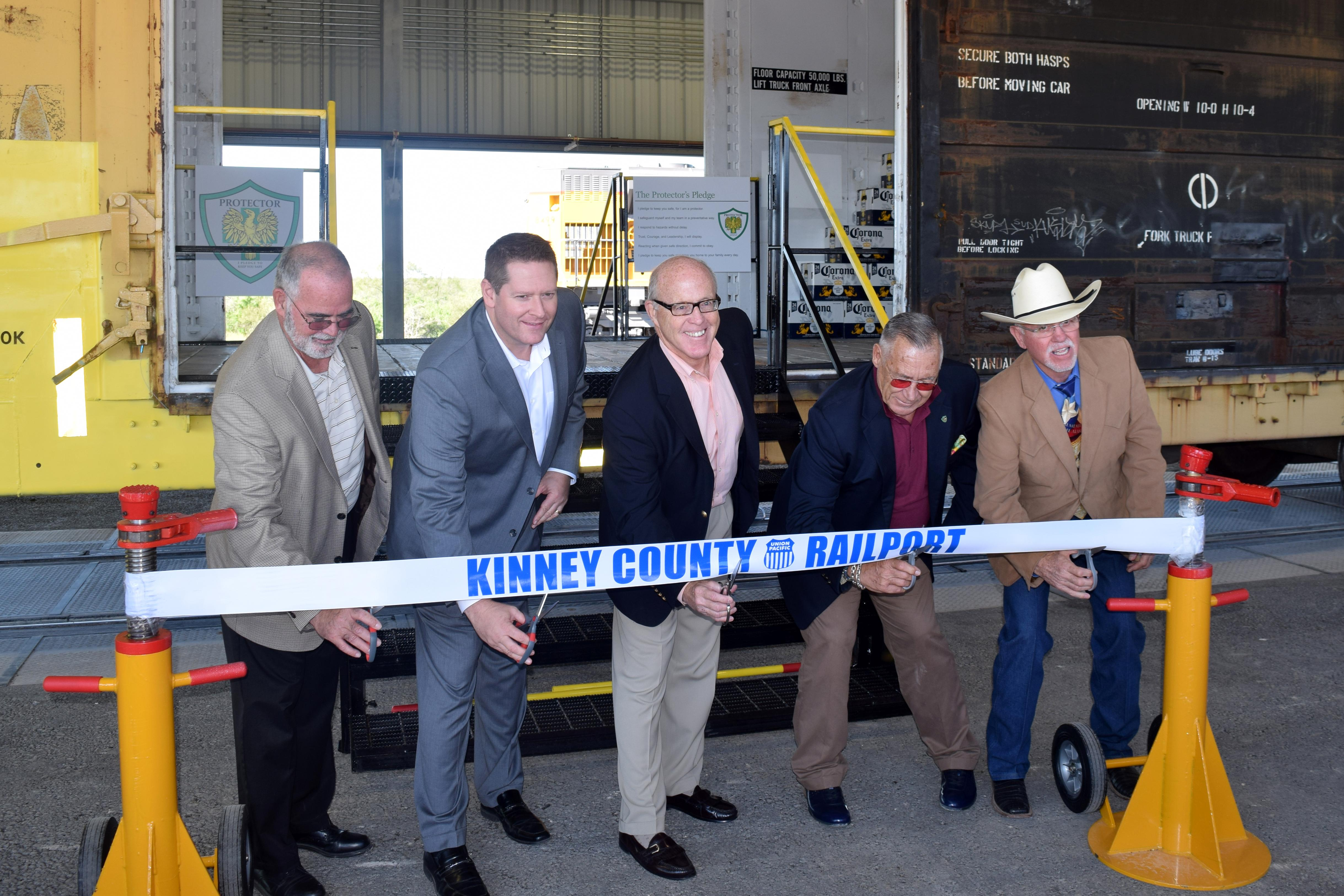 Ribbon Cutting at Kinney County Railport