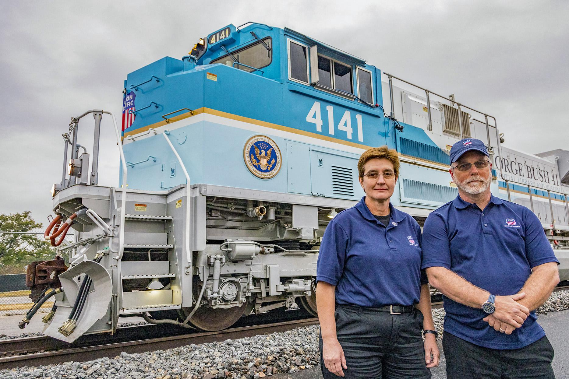 Up Bush Funeral Train Crew Just Taking Care Of Another Sailor