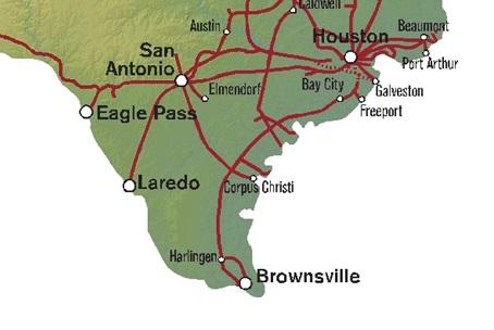 Up Union Pacific Launches Port Laredo Expansion Project - Us-ports-of-entry-map
