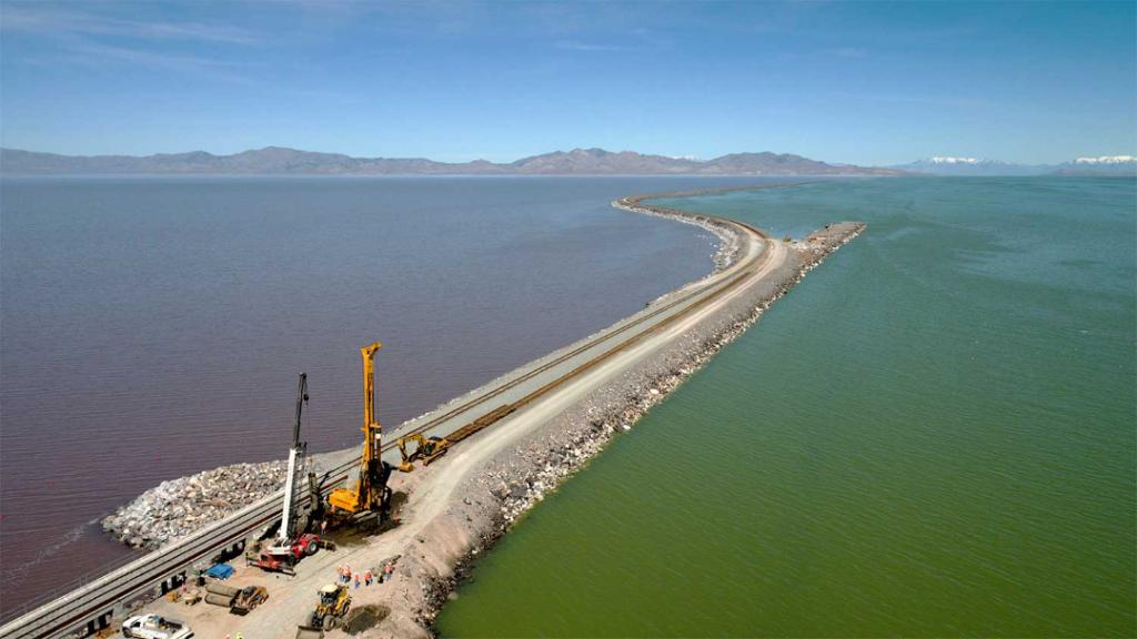 Large | Inside Track: Aerial view of the Great Salt Lake - main image