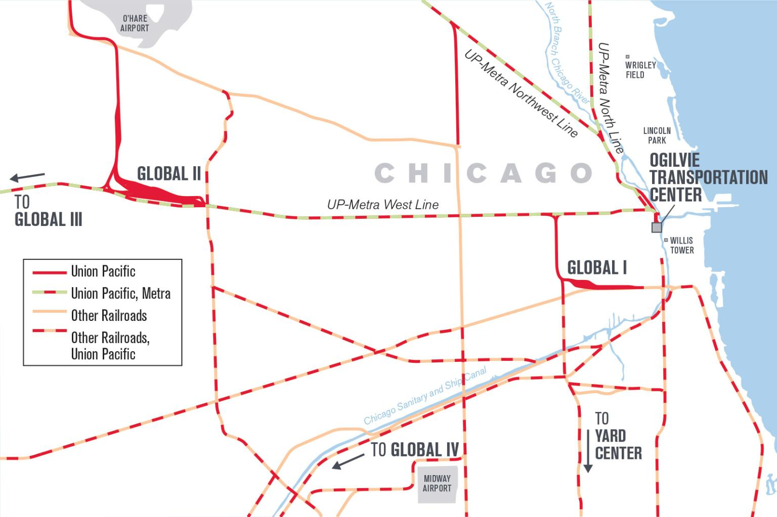 UP Chicago Balancing Freight And Commuters At The Worlds - Chicago terminal map