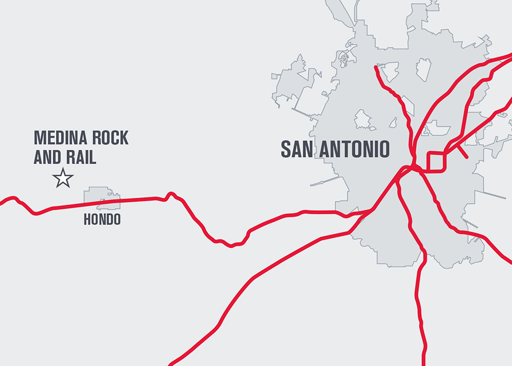 Inside Track: Martin Marietta - Median Rock and Rail map