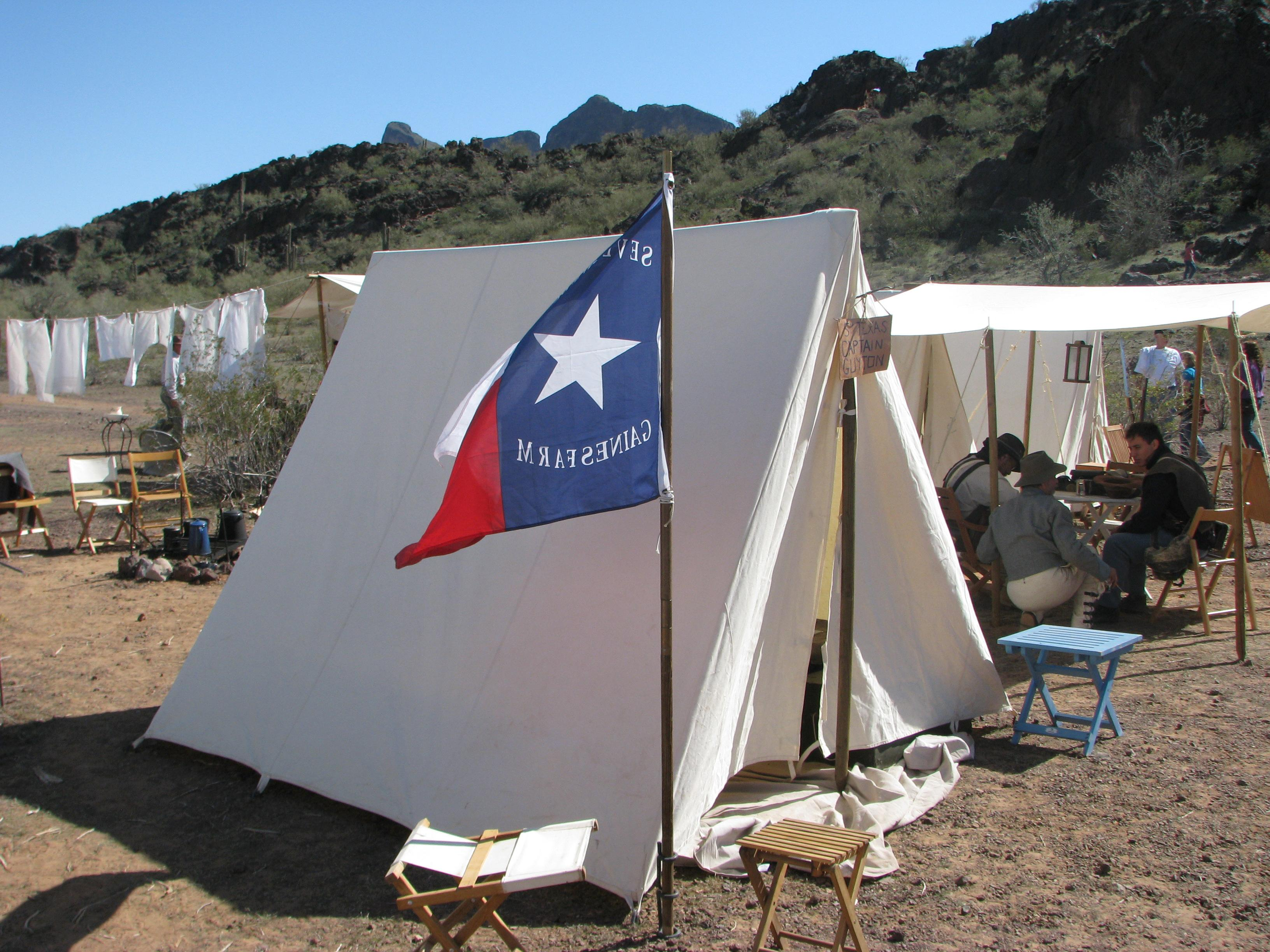Rendition Original | Texas tent at Picacho re-enactment