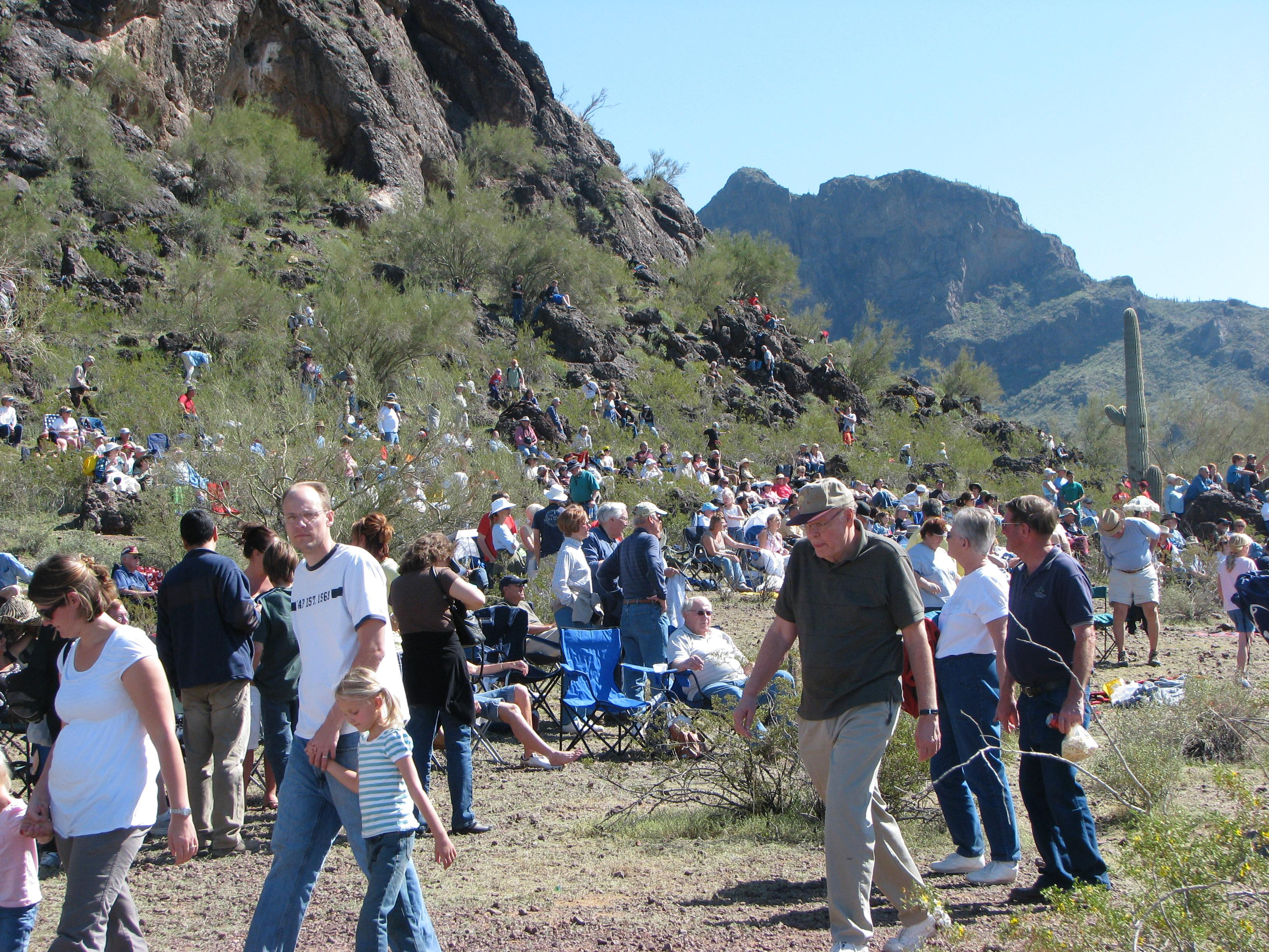 Spectators attend Picacho Re-Enactment