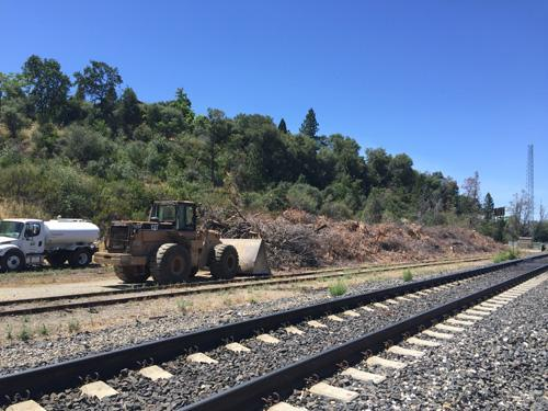Track Clearing - California Fire