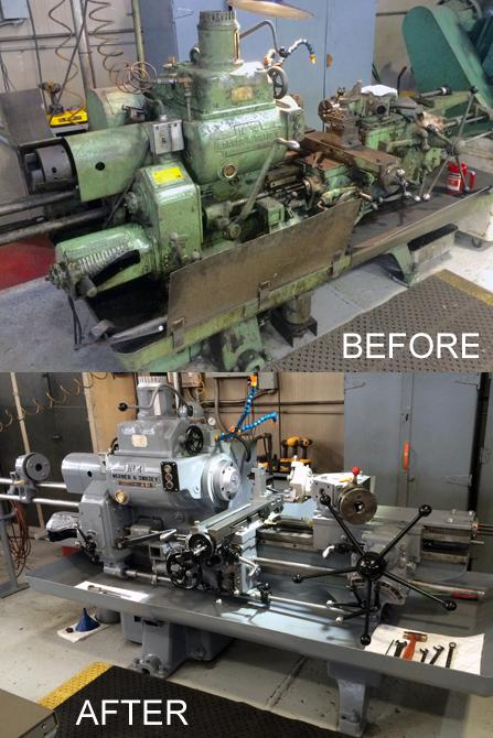 Turret Lathe Before and After