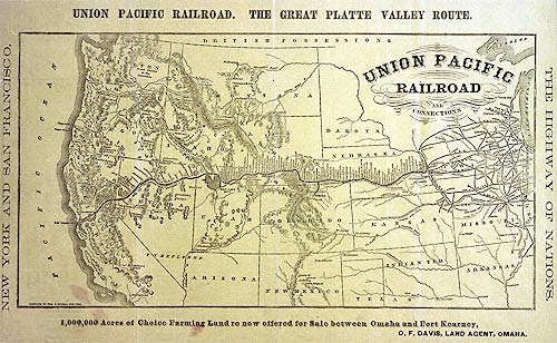 UP Historical Maps - Us map 1869