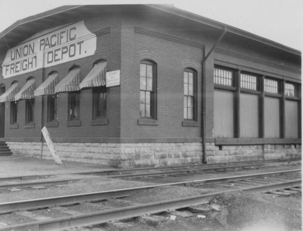 79368452d74 Photograph of the Union Pacific freight depot in Kearney
